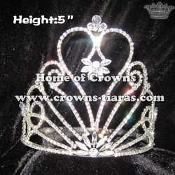 5inch Heart Crowns With Clear Diamond