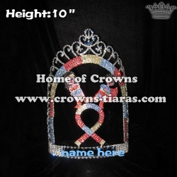 Wholesale Crystal Ribbon Pageant Crowns With Super Hero