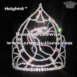 6inch Mardi Gras Crystal Crowns