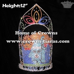 12in Big Large Crystal Rhinestone Shopkins Stock Crowns
