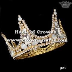 Wholesale Rhinestone Full Round Wedding Crowns