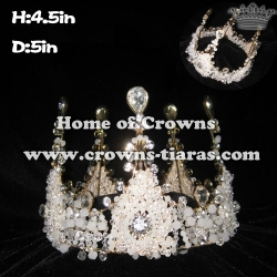 4.5in Height Full Round Hand Made Unique Crowns