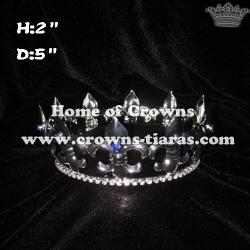 King crown with dark blue diamond