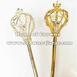 Rhinestone National Pageant Scepters