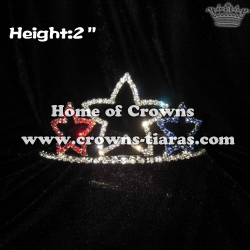 2inch Star Rhinestone Pageant Crowns---4th Of July