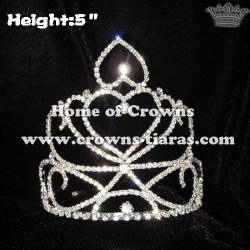 Heart Crystal Princess Crowns