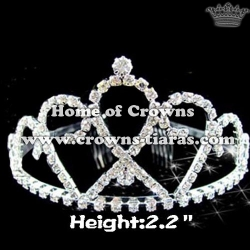 Beauty Double Heart Rhinestone Princess Tiaras