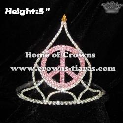 Peach God Crystal Crowns and Tiaras