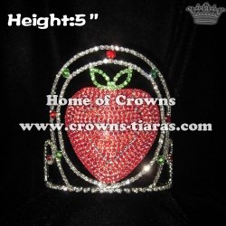 Rhinestone Strawberry Pageant Crowns