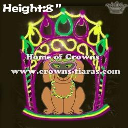 Unique Mardi Gras Dog Crystal Crowns