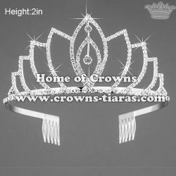 Fashion Crystal Rhinestone Pageant Small Crown