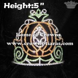 5inch Halloween Pumpkin Rhinestone Crowns