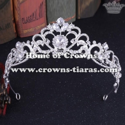 Heart Shaped Crystal Pageant Queen Tiaras