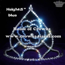 Vintage Crystal Blue Rose Crowns