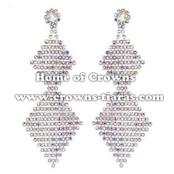 Wholesale AB Rhinestone Party Earrings
