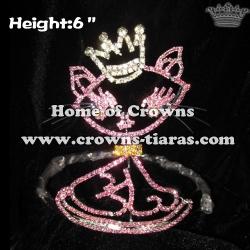 6inch Rhinestone Cat Baby Crowns