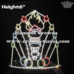 Wholesale Custom Olympic Flame Pageant Crowns