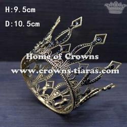 Full Round Crystal Bridal Wedding Crowns