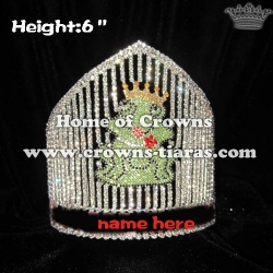 6in Height Custom Crystal Frog Pageant Crowns