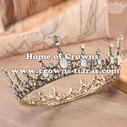 Wholesale Crystal Pageant Full Round Queen Crowns