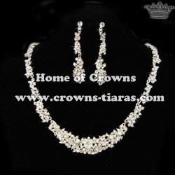 Fashion Queen Crystal Rhinestone Necklace Set