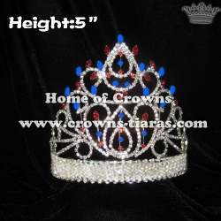Red White Blue Pageant Crowns