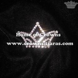Crystal Crowns Pins Sash Pins