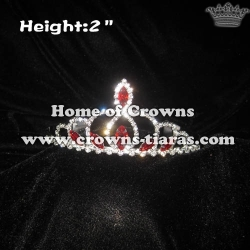 2in Red Diamond Small Tiaras Stocks Crowns