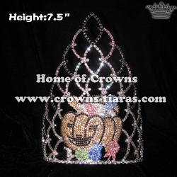 Pumpkin Candy Holloween Pageant Crowns