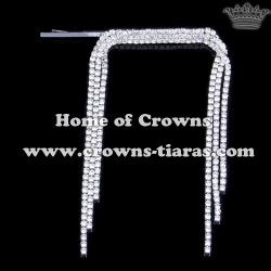Unique Beauty Long Rhinestone Hair Clips