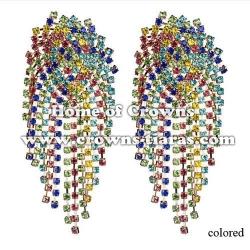 Crysal Rhinestone Mulit-Color Party Earrings