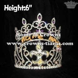 Custom Crystal Fleur De Lis Pageant Crowns