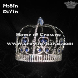 6in Height Full Round Shaped Boy King Crowns