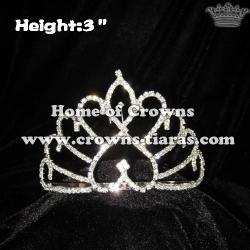 3inch Heart Rhinestone Crowns
