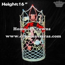 16in Large Tall Crystal Custom Pageant Ocean Animal Crowns
