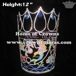 12in Height Custom Ocean Mermaid Pageant Crowns