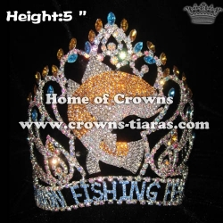Rhinestone Pageant Crowns In Fish Shaped