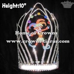 Unique Crystal Custom Clown Circus Crowns