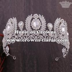 Wholesale Crystal Pearl Wedding Queen Tiaras