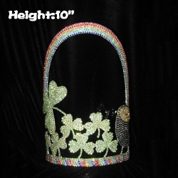 10in Height Crystal Clovers Wholesale Crowns