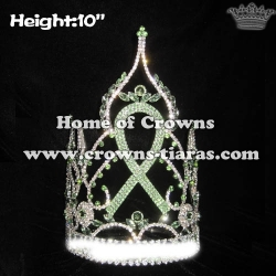 10in Height Ribbon Crystal Pageant Crowns
