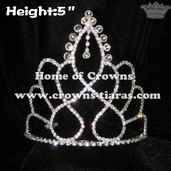 5in Crystal Diamond Dangle Pageant Crowns