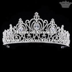 Alloy Crystal Pageant Queen Crowns In Heart Shaped