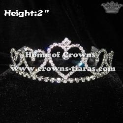 Crystal Heart Shaped Princess Crowns and Tiaras
