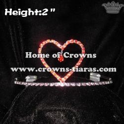 2inch Heart Valentine Festival Crowns