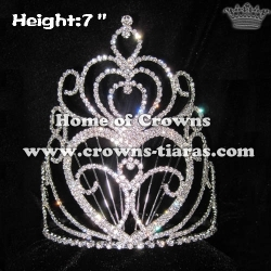 7inch Heart Shaped Queen Pageant Crowns