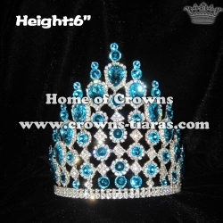 Vintage Queen Crowns With Blue Diamond