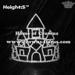 5in Crystal Alice Castle Rhinestone Crowns