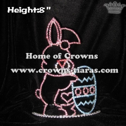 8inch Rabbit and Easter Egg Easter Pageant Crowns