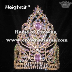 Wholesale Pageant Queen Crowns With AB Diamonds